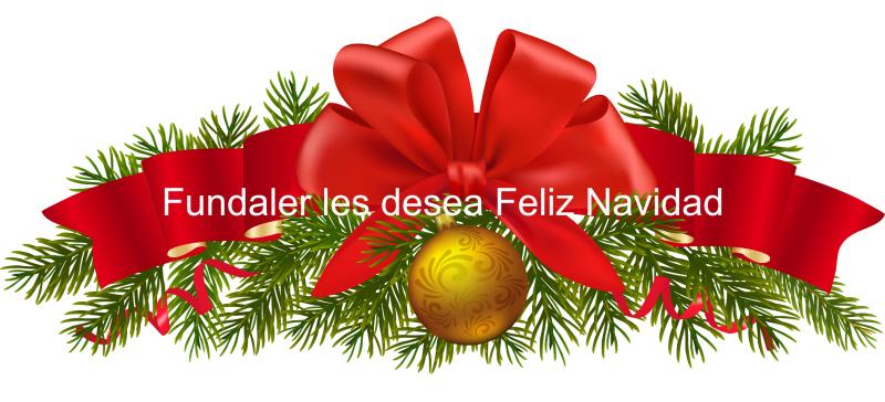 fundaler les desea feliz navidad