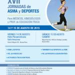 Afiche jornadas de Asma y Deportes