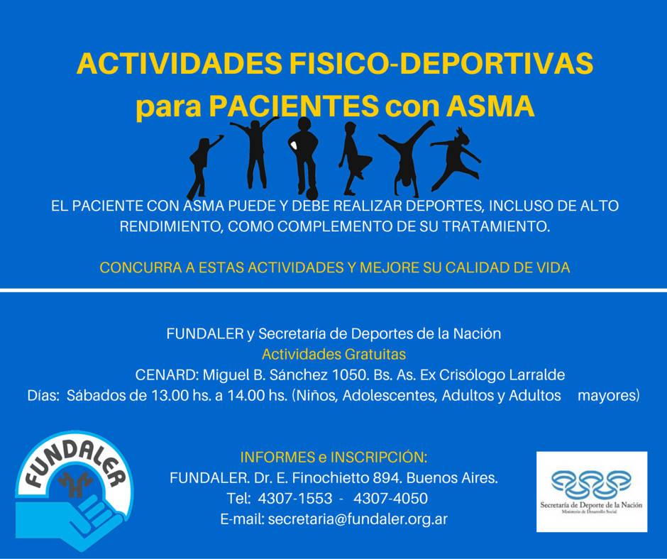 Actividades Físico-Deportivas para pacientes con Asma en CeNARD