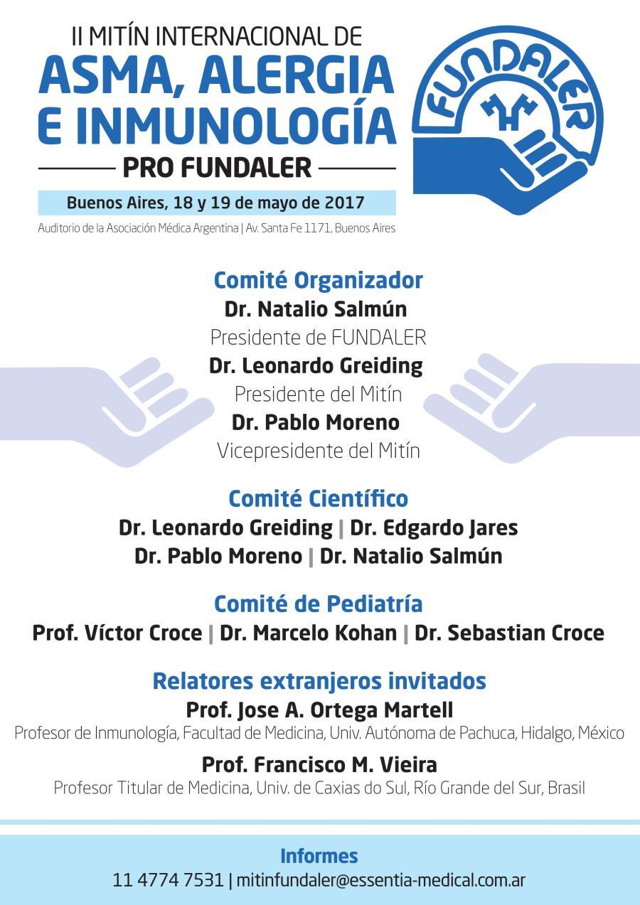 Frente programa II mitín internacional de asma, alergia e inmunología