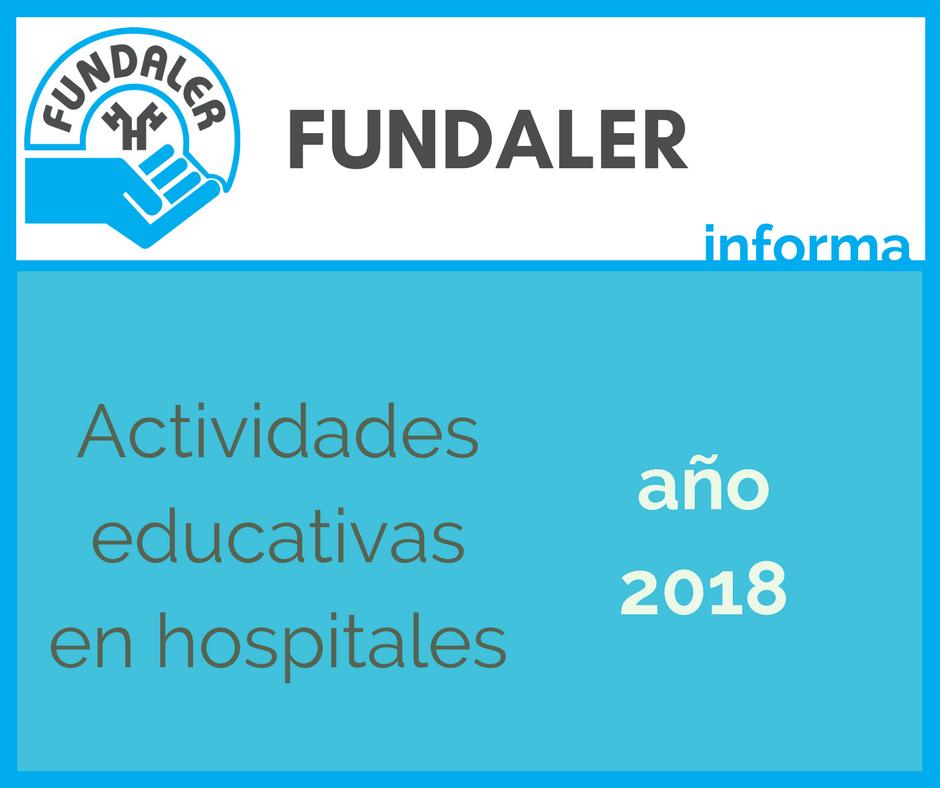 Actividades educativas en hospitales en 2018