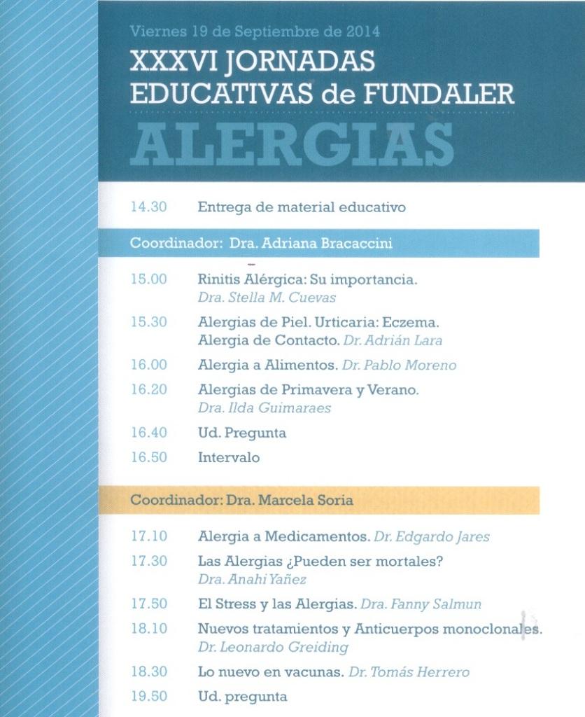 actividades - XXXVI Jornadas Educativas de Fundaler