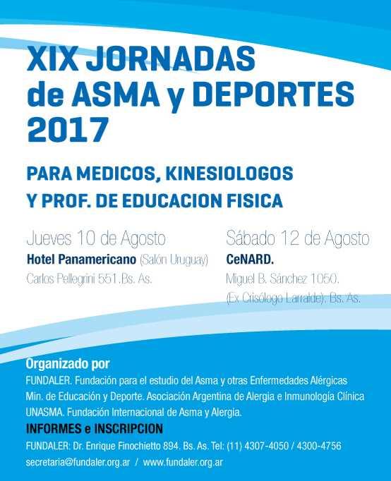 XIX jornadas de Asma y Deportes 2017