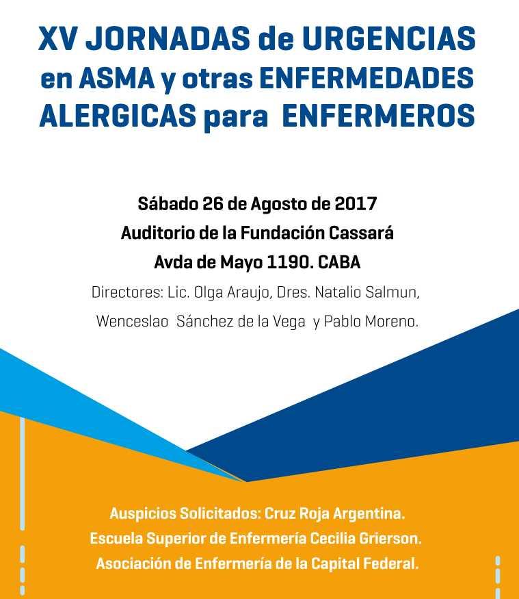 XV Jornadas de Urgencias en asma y otras enfermedades alergicas