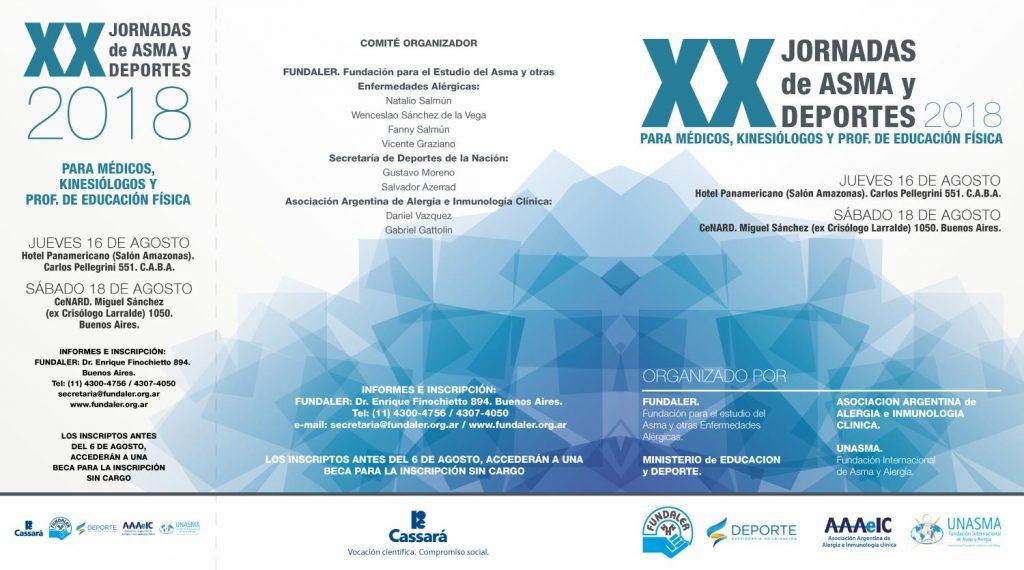 XX Jornadas de Asma y Deportes - edición 2018 - programa exterior