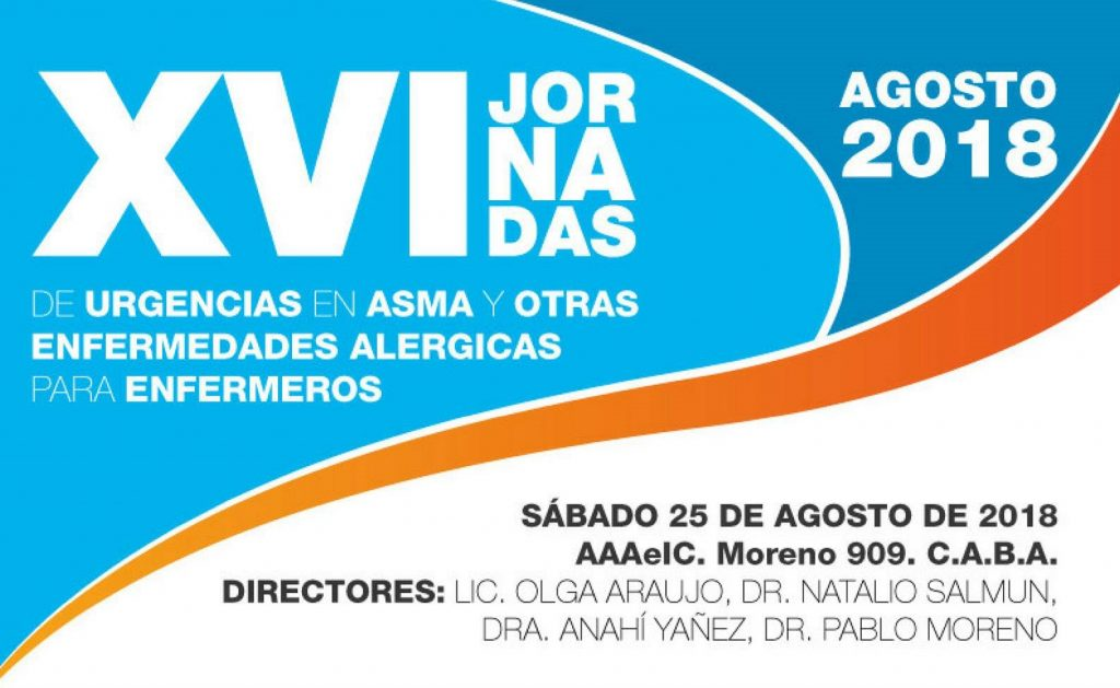 XVI JORNADAS de URGENCIAS en ASMA y otras ENFERMEDADES ALERGICAS para ENFERMEROS - 2018