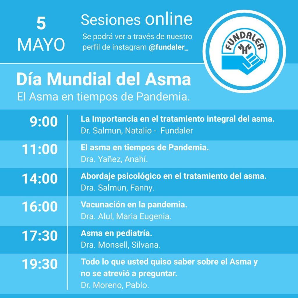 dia mundal del asma sesiones online