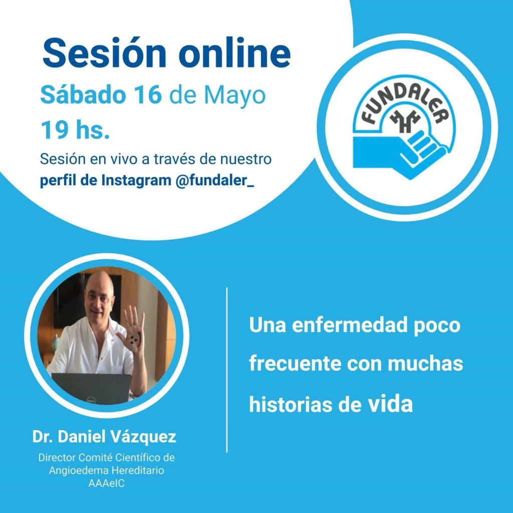 Sesión online en Instagram sobre Angioedema Hereditario