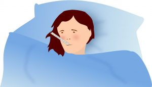 La fiebre es un síntoma notable de la neumonía
